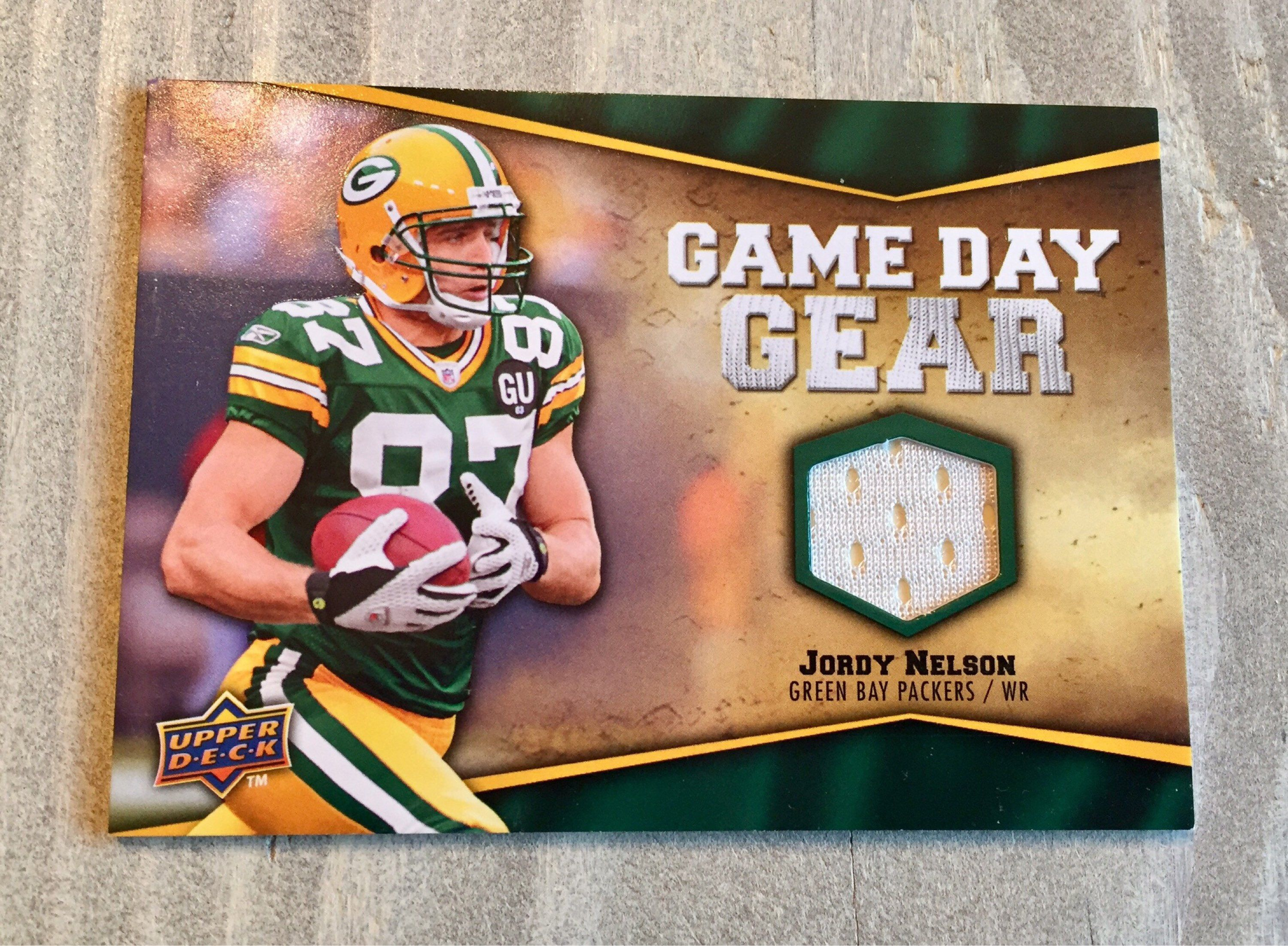 promo code 488ce d13d7 Jordy Nelson Jersey Card - 2009 Upper Deck Game Used Jersey ...
