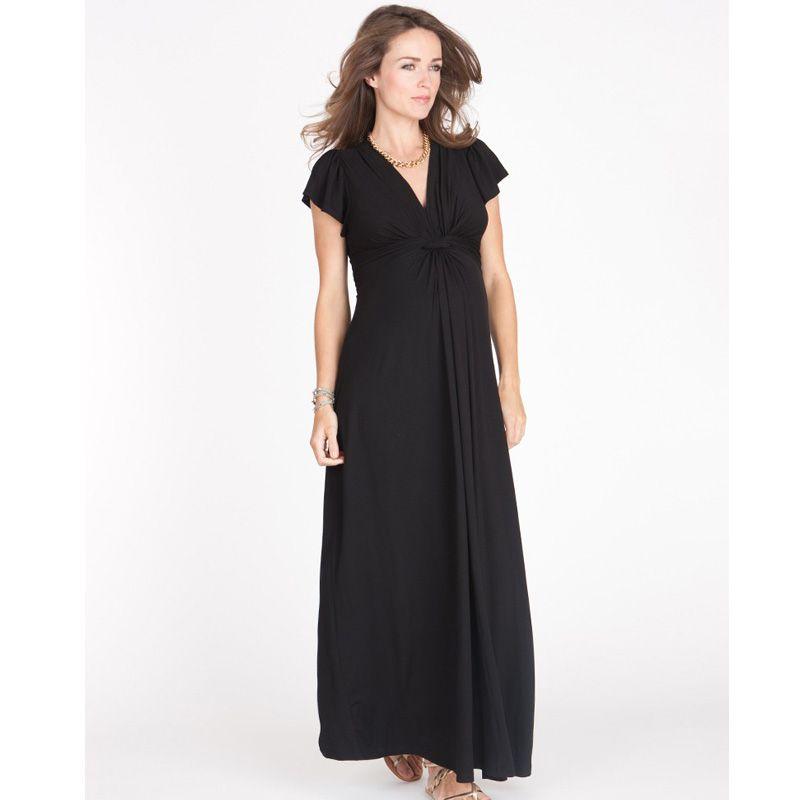 95% Tencel Elastische Lose Mutterschaft Kleid V-ausschnitt Kurzarm ...