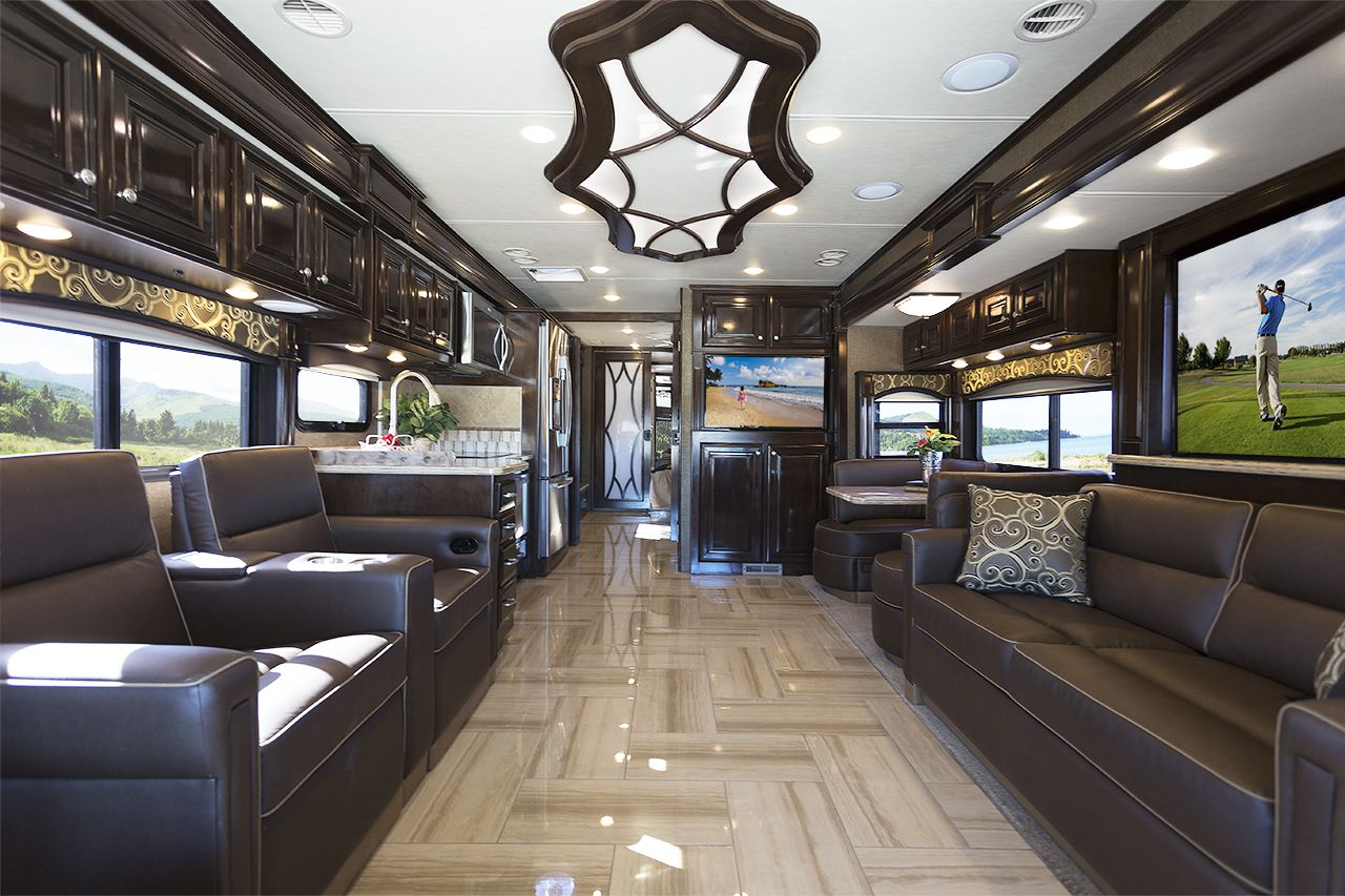 2016 tuscany luxury diesel motorhomes class a diesel pusher by thor rh pinterest com 2 Story Motorhome Interiors Class B Motorhome Interior
