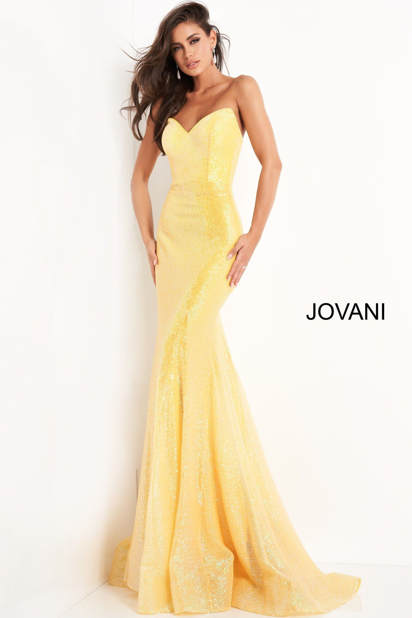 Jovani 04831 Yello Sequin Fitted Long Prom Dress In 2021 Prom Dresses Yellow Prom Dresses Jovani Prom Dresses [ 2000 x 1334 Pixel ]