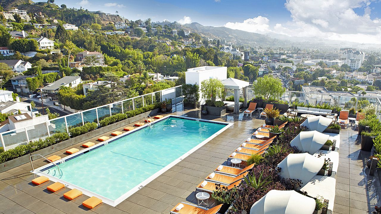 The Rooftop Pool Deck Of Andaz West Hollywood Hotel Highest In All Los Angeles So You Can Take Views While Soak Up