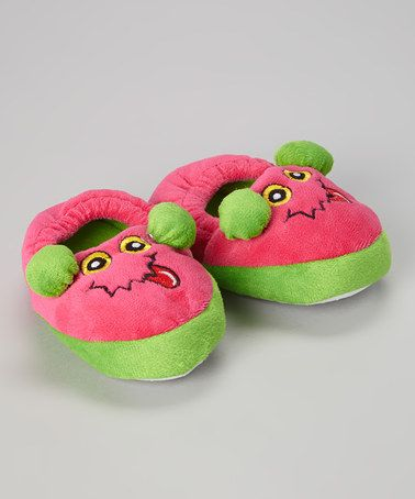 Loving this Fuchsia Monster Slipper on #zulily! #zulilyfinds