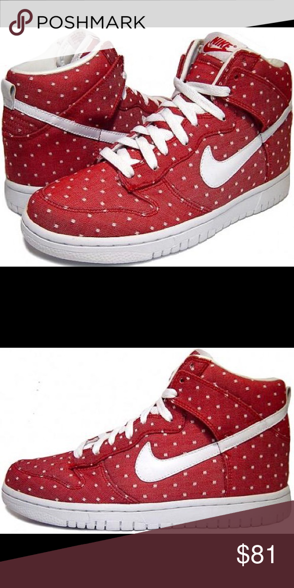 Nike dunk high Special edition Nike dunk high valentines day 2010 released  extremely rare ........ this is a woman sneaker size 8 Nike Shoes Sneakers 743a51d3a1