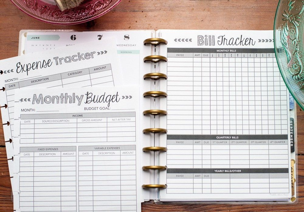 Home Finance Kit for the Happy Planner, Dave Ramsey, Total Money