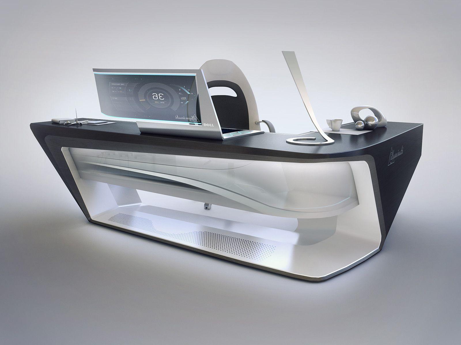 ArtStation - Modern desk design, Encho Enchev | Office | Pinterest ...