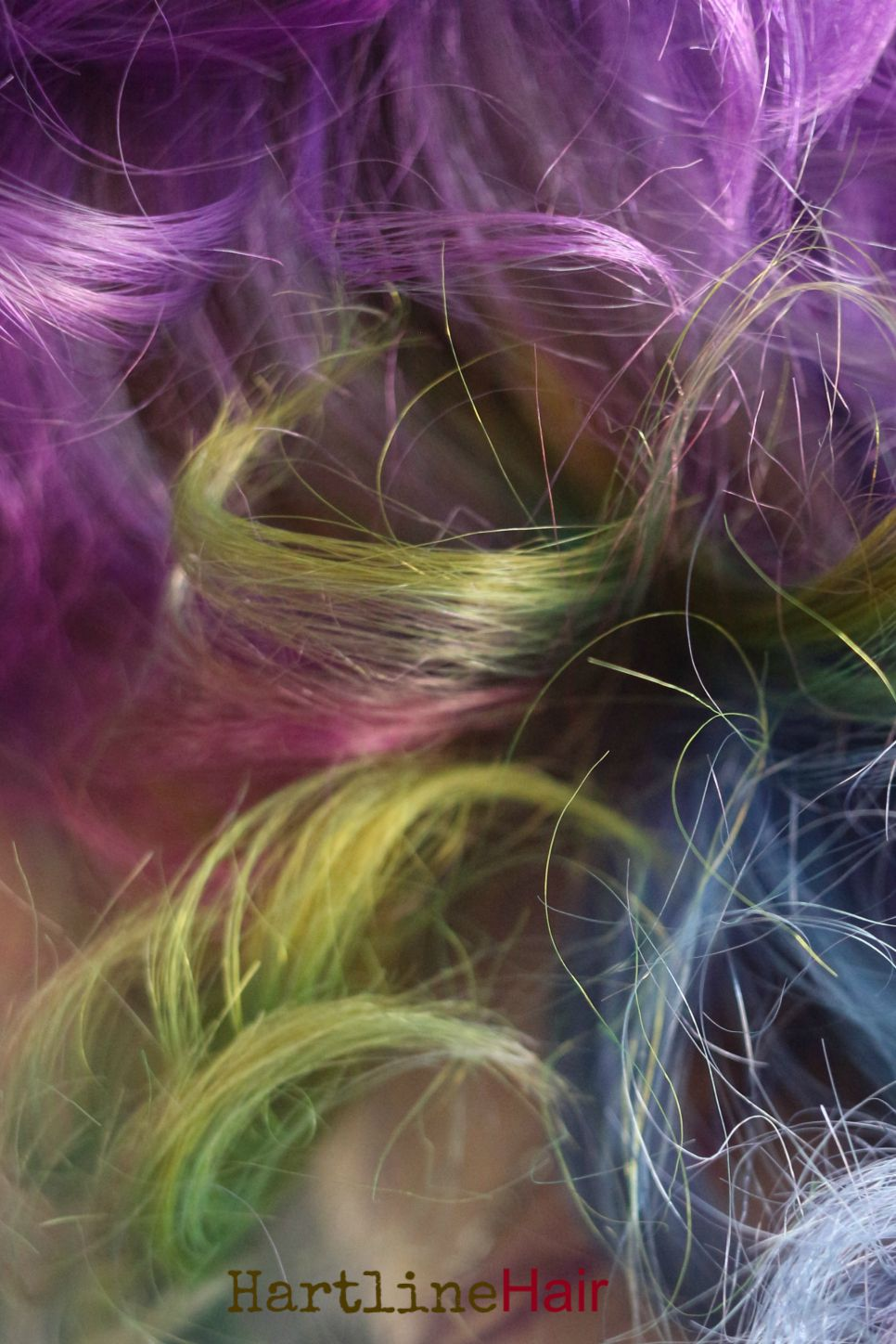 Love purple hair next to yellow hair!  Not easy to create but always beautiful to me... makes me think of spring.