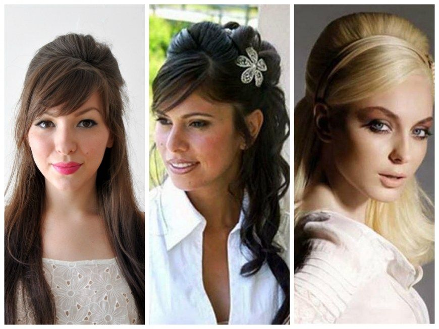 Wedding Hair Half Up Half Down With Fringe Hairstyles With Bangs Wedding Hair Down Half Up Wedding Hair