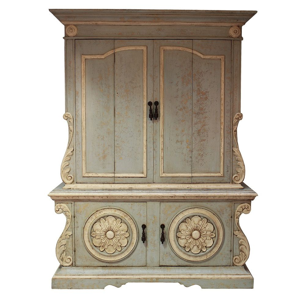 Attrayant *Vintage Blue Shabby Chic Armoire   Pale Celeste Blue Finish   Multiple  Finishes Available |