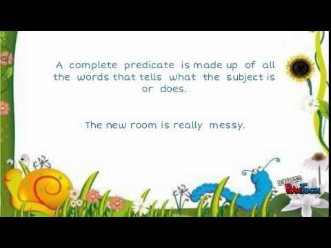 Subject & Predicate - basic english grammar.
