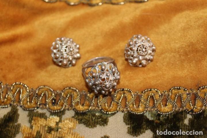 b479ca11dd7d Conjunto de anillo charro y pendientes charros en plata indumentaria ...