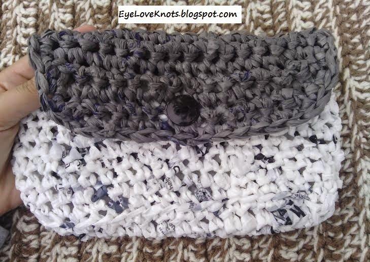 EyeLoveKnots: Crochet Plarn Handbag - FREE Pattern   CROCHET KNIT ...