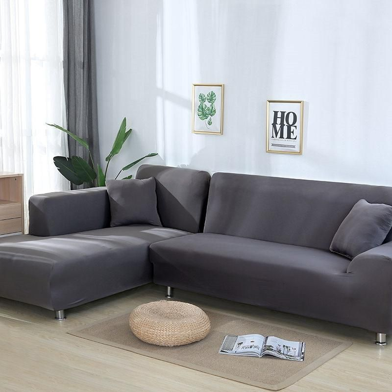 Simple Fashion Sectional Sofa Cover Polyester Stretch Tight Wrap All Inclusive Slipcover Anti Slip Furniture Co Corner Sofa Covers Sofa Covers Cushions On Sofa