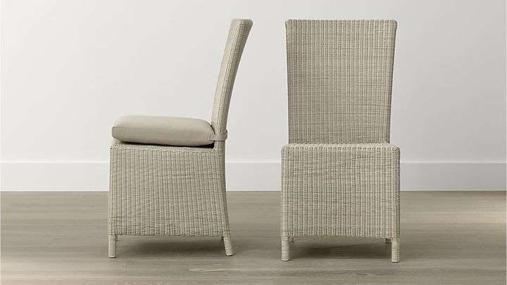 Crate Barrel Captiva Stone Side Chair Cushion Products Dining