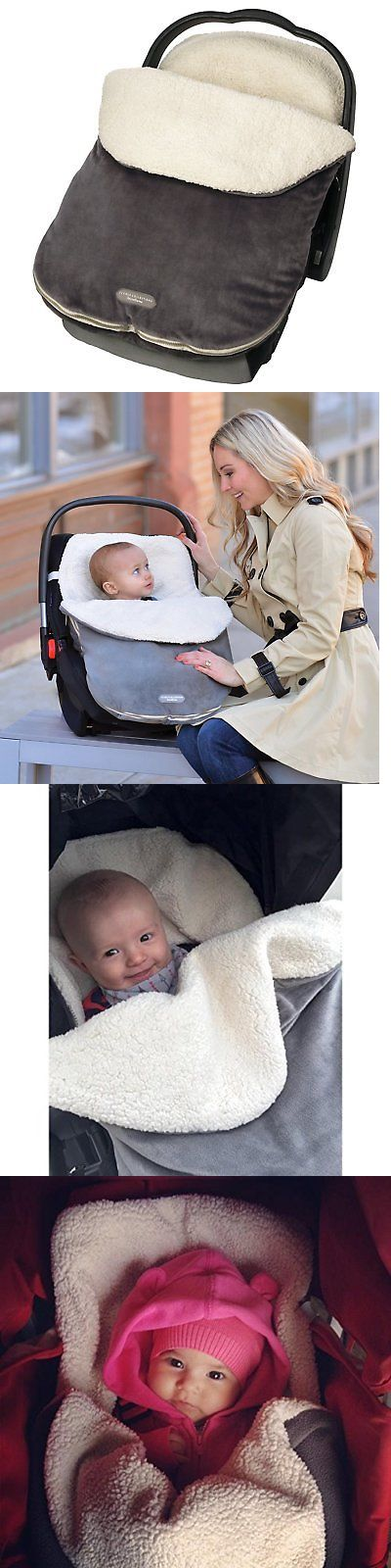 Car Seat Canopy Baby Infant Carseat Carrier Cover Warm Winter Bundle GRAPHITE