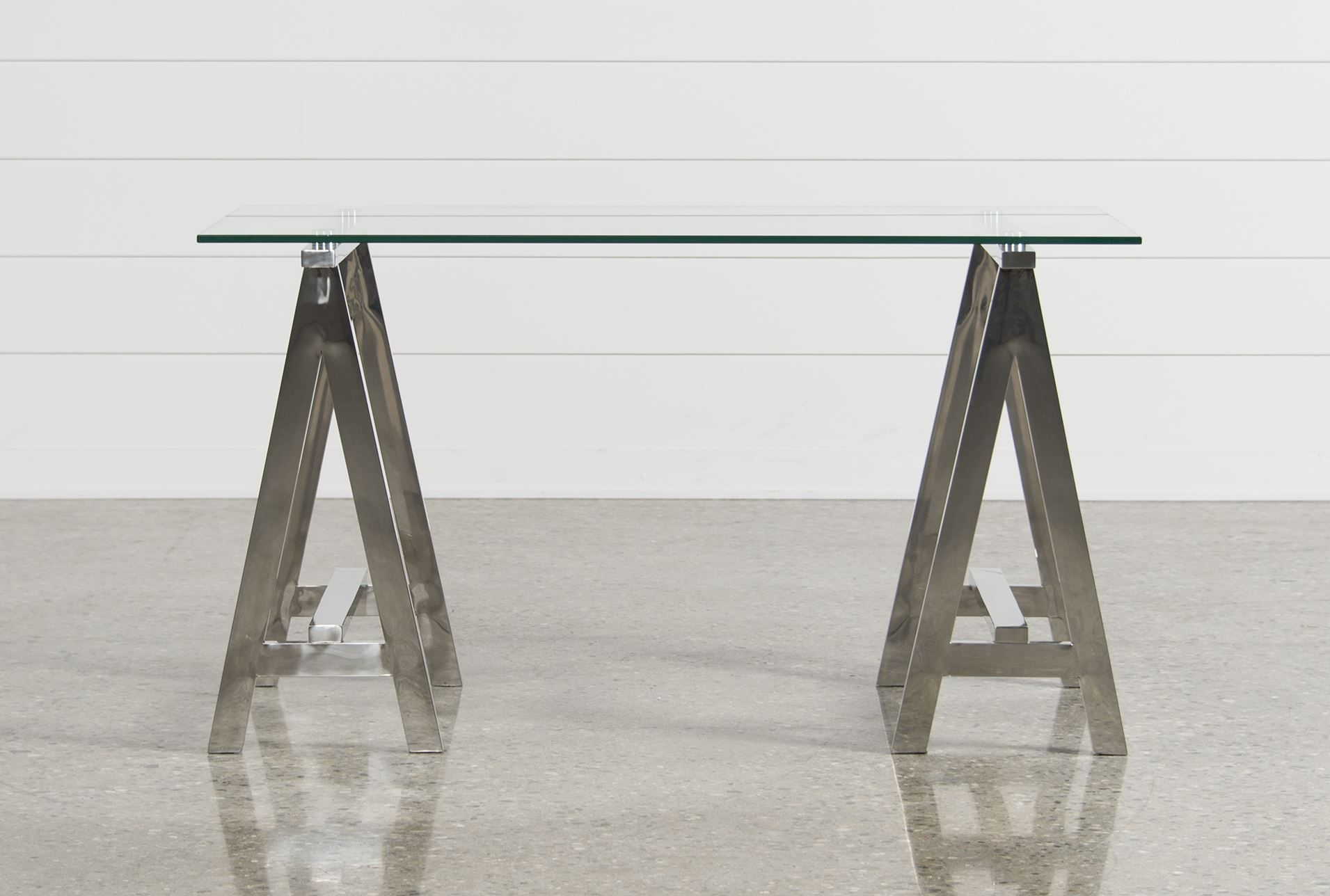 Jenica Glass Desk | Desks, Glass and Living spaces