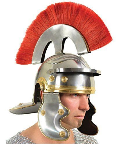 Helmet Roman Centurian Armor by Western Fashion http://www.easterdepot.com/helmet-roman-centurian-armor-by-western-fashion/ #easter  This historical replica adds a new level to your Easter Play or your European History display.; This historical replica adds a new level to your Easter Play or your European History display.