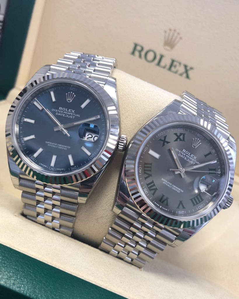 Two of the most popular dials available on the Rolex