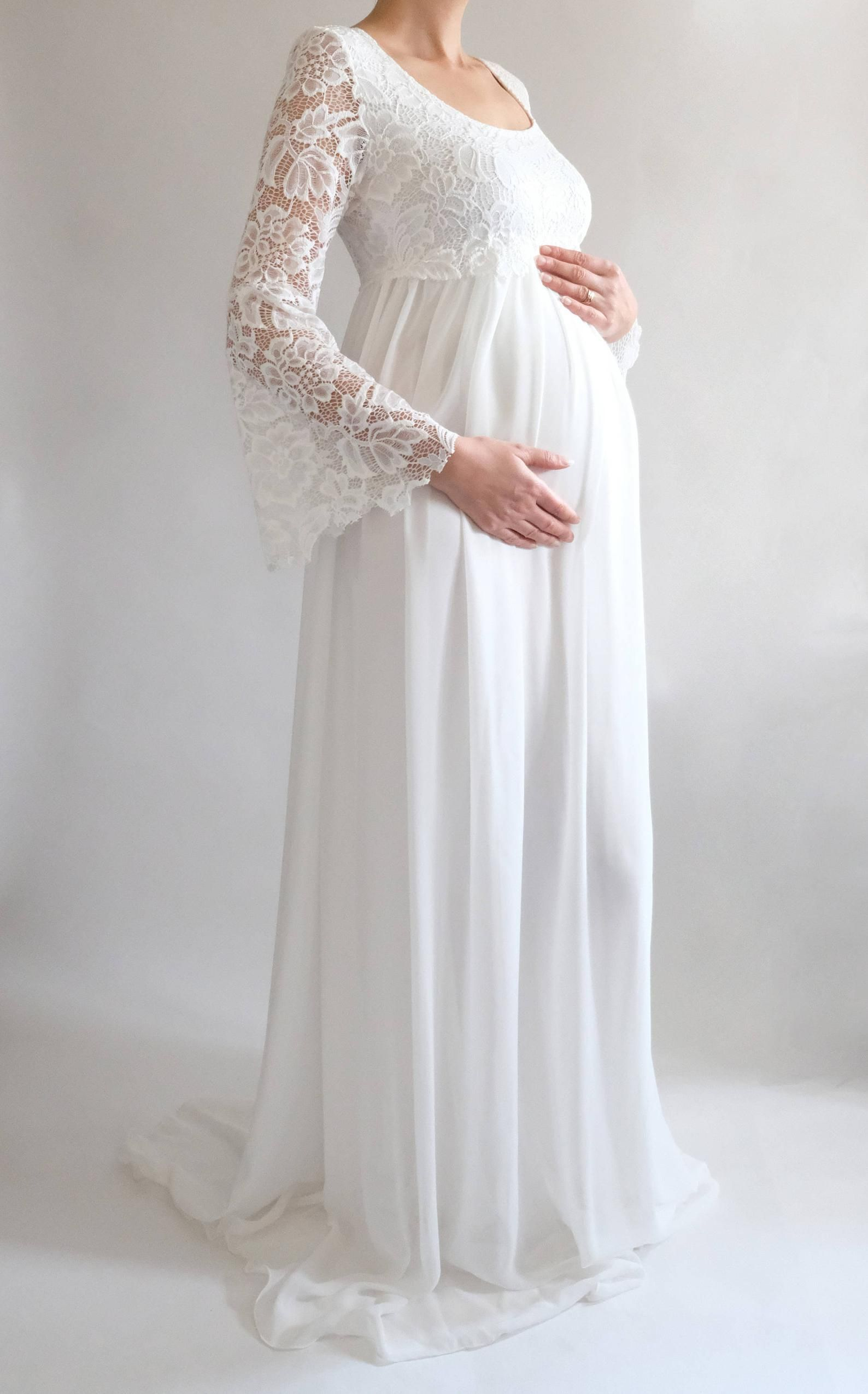 90d595a12c82f MARGARET Lace Maternity Dress for Baby Shower Boho Wedding | This gorgeous  chiffon maternity gown is just perfect for your baby shower, maternity  bridesmaid ...