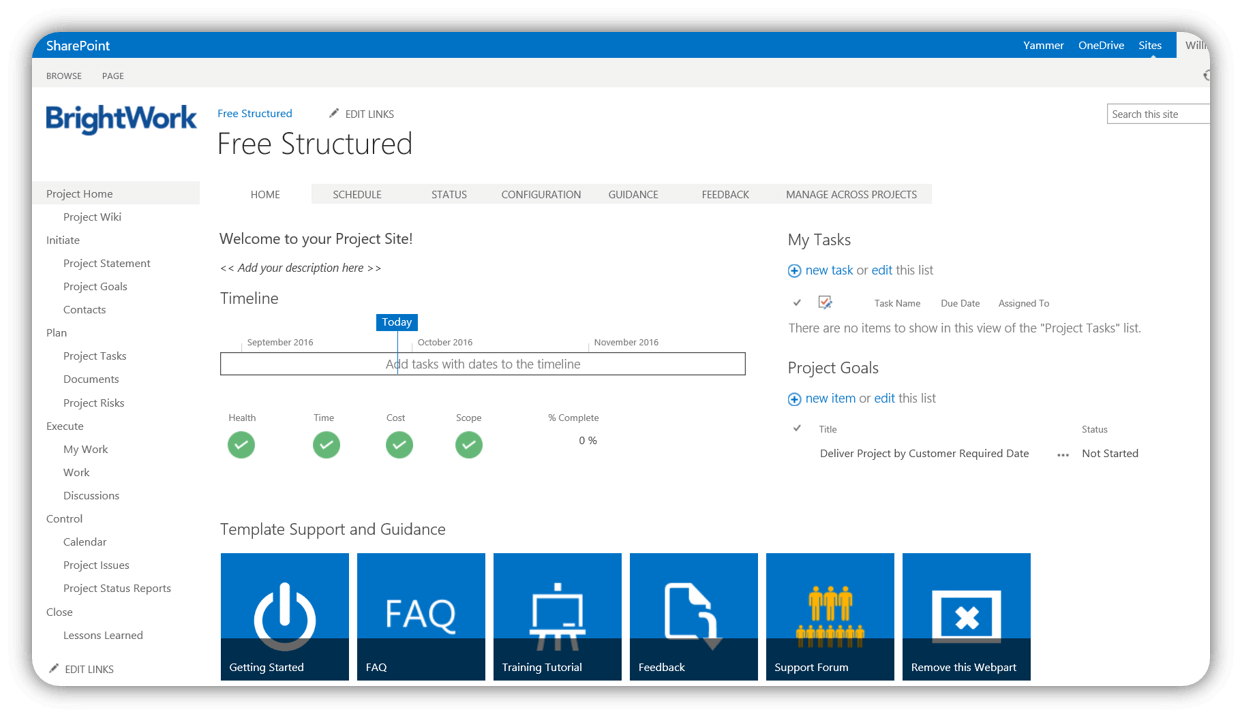 Free SharePoint Project Management Templates | Pinterest | Project ...