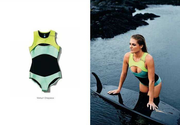 4ba147b3cc Sexy wetsuit for surfing from Roxy. Modelled by professional surf Stephanie  Gilmore