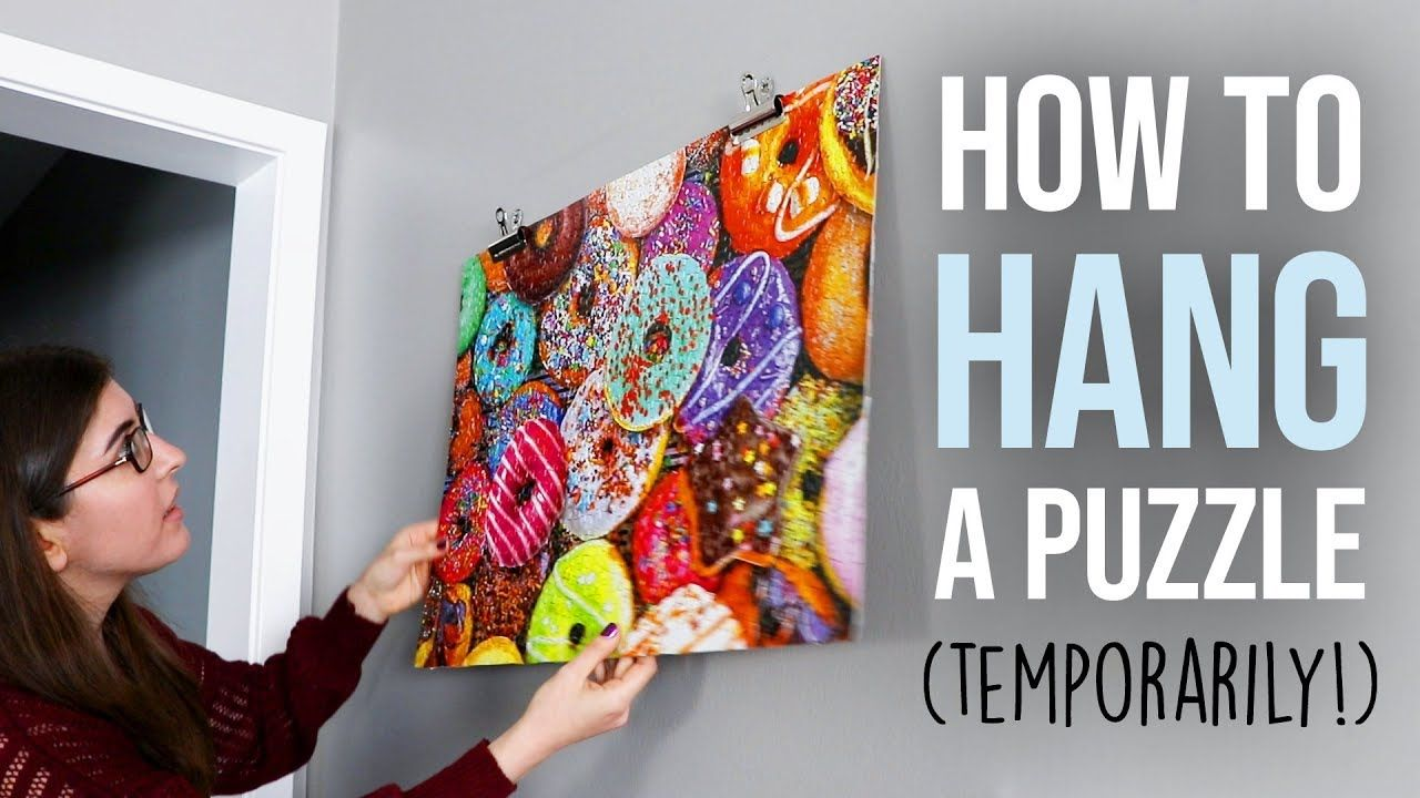 How To Hang A Jigsaw Puzzle Temporarily Puzzle Frame Jigsaw Puzzles Art Puzzle Crafts