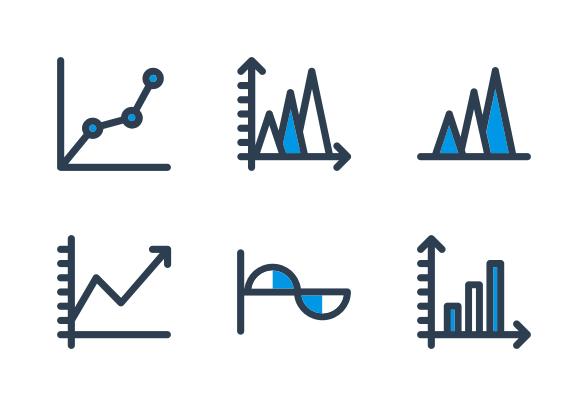 Chart Analytics Icons By Ton Arf Chart Analytics Vector Pattern