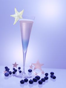 Star of the Night: Van Gogh Açai-Blueberry Vodka and Pommery Pink POP Champagne.