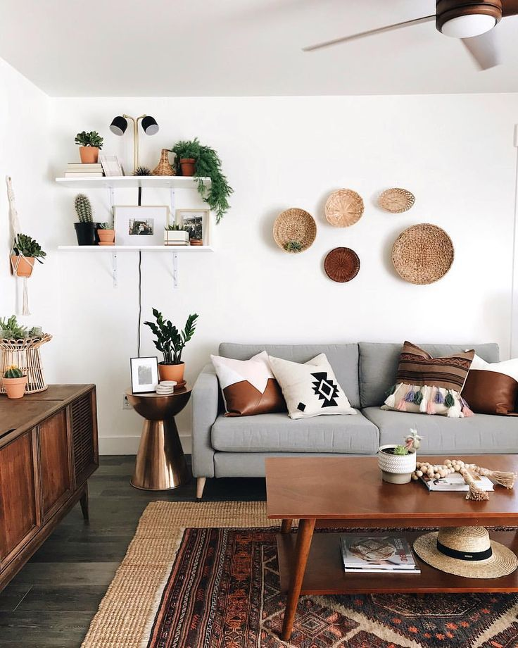 Pillows By Kae On Instagram A Mix Of Mid Century Modern Bohemian And Industrial Interior Style Home And A 50er Jahre Wohnzimmer Haus Deko Zimmerdekoration