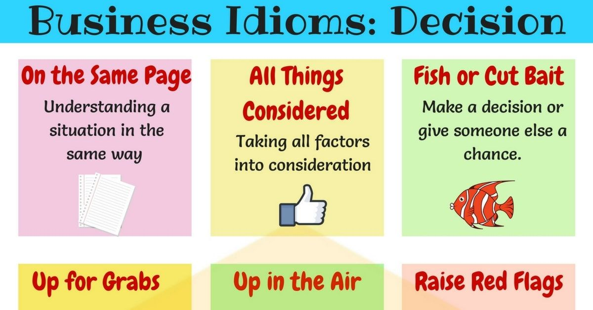 15 Useful Business Idioms For Making Decisions English Idioms