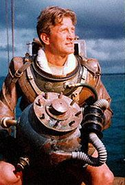 Kirk Douglas Ready To Dive Leagues Under The Sea Disney Live Action Films Disneyland World