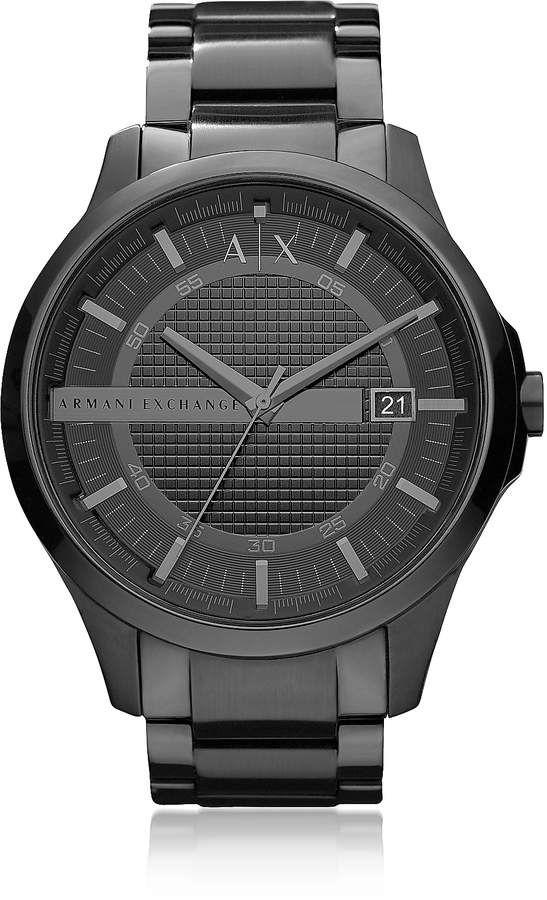 2c4ffcb4a Armani Exchange Hampton Black Stainless Steel Men's Watch