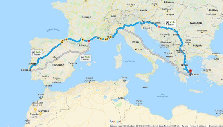 Mapas Com Distancias Entre Portugal E As Capitais Europeias