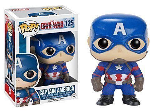 Funko Pop Marvel Captain America Civil War Captain America Vinyl Bobblehead Figure Funko Pop Avengers Captain America Figure Marvel Captain America Civil War