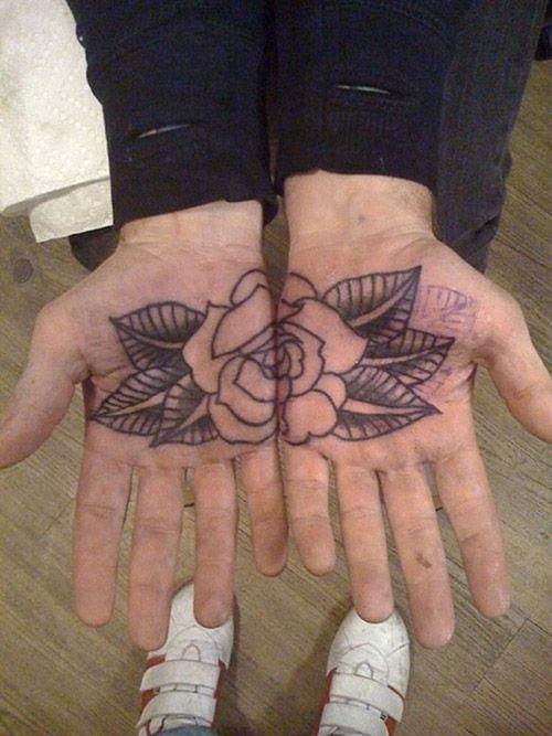 Palm Tattoo Tattoos Rose Tattoo Wish List Pinterest Palm