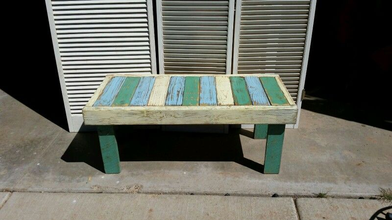 Indoor or outdoor bench made from pallets