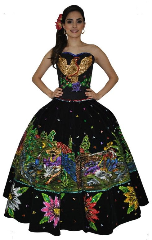 Jalisco Mexican dress | Emma's Mexican inspired clothing ...