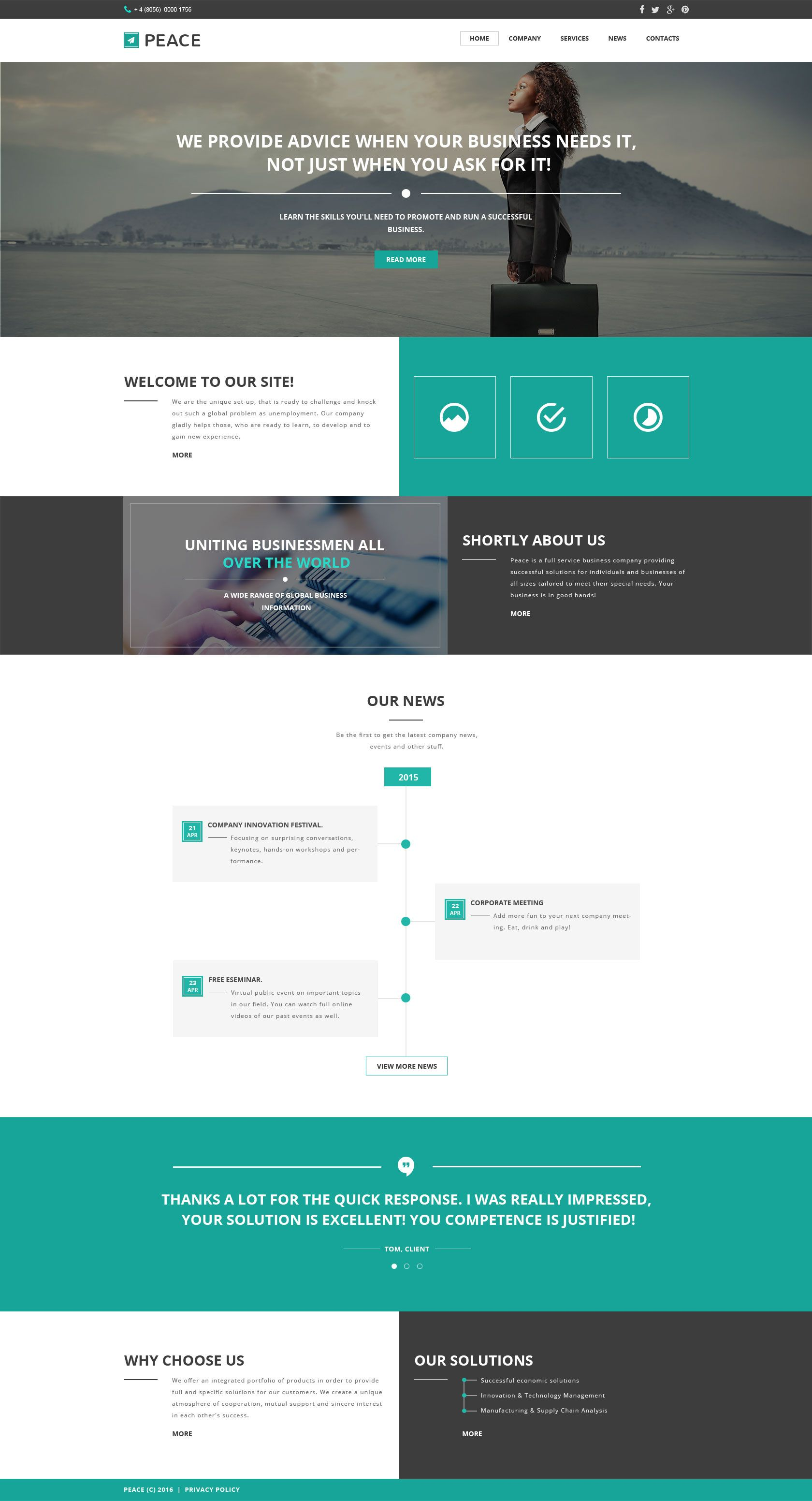 Business Responsive Website Template Pinterest Template Website - Information website template