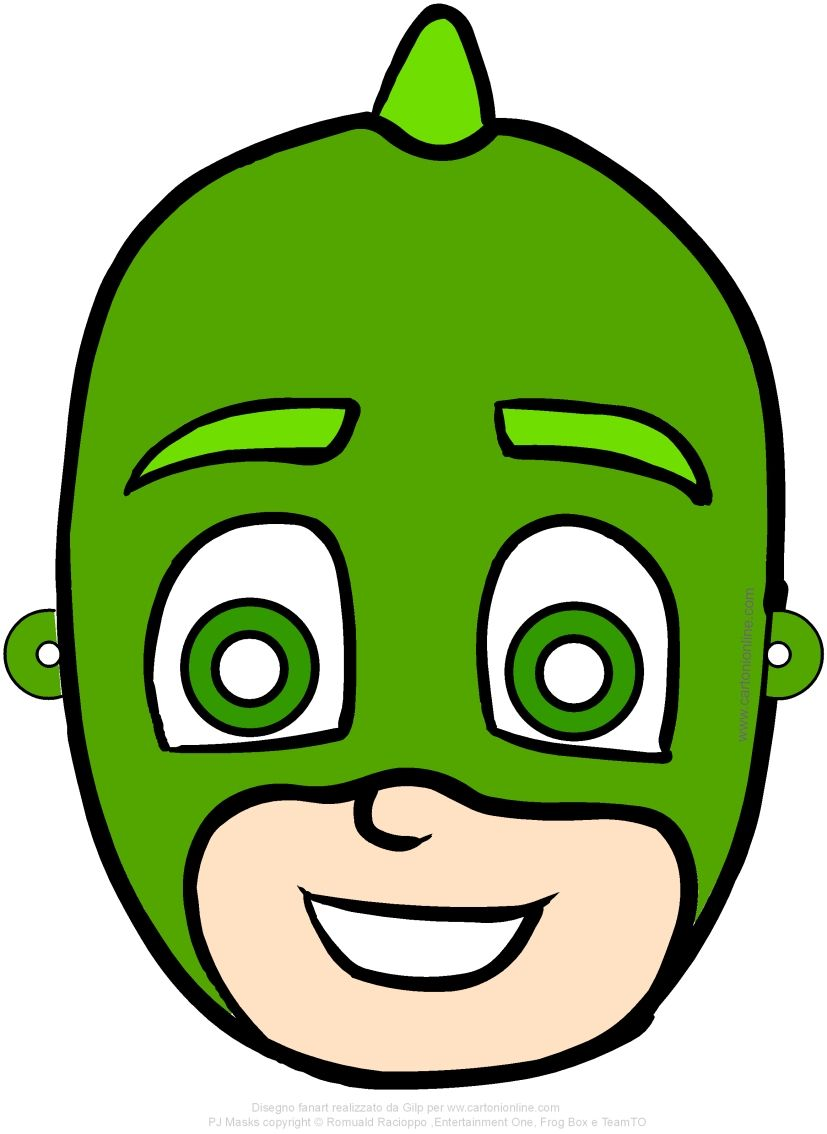 Maschera Di Geco Pj Masks I Super Pigiamini Da