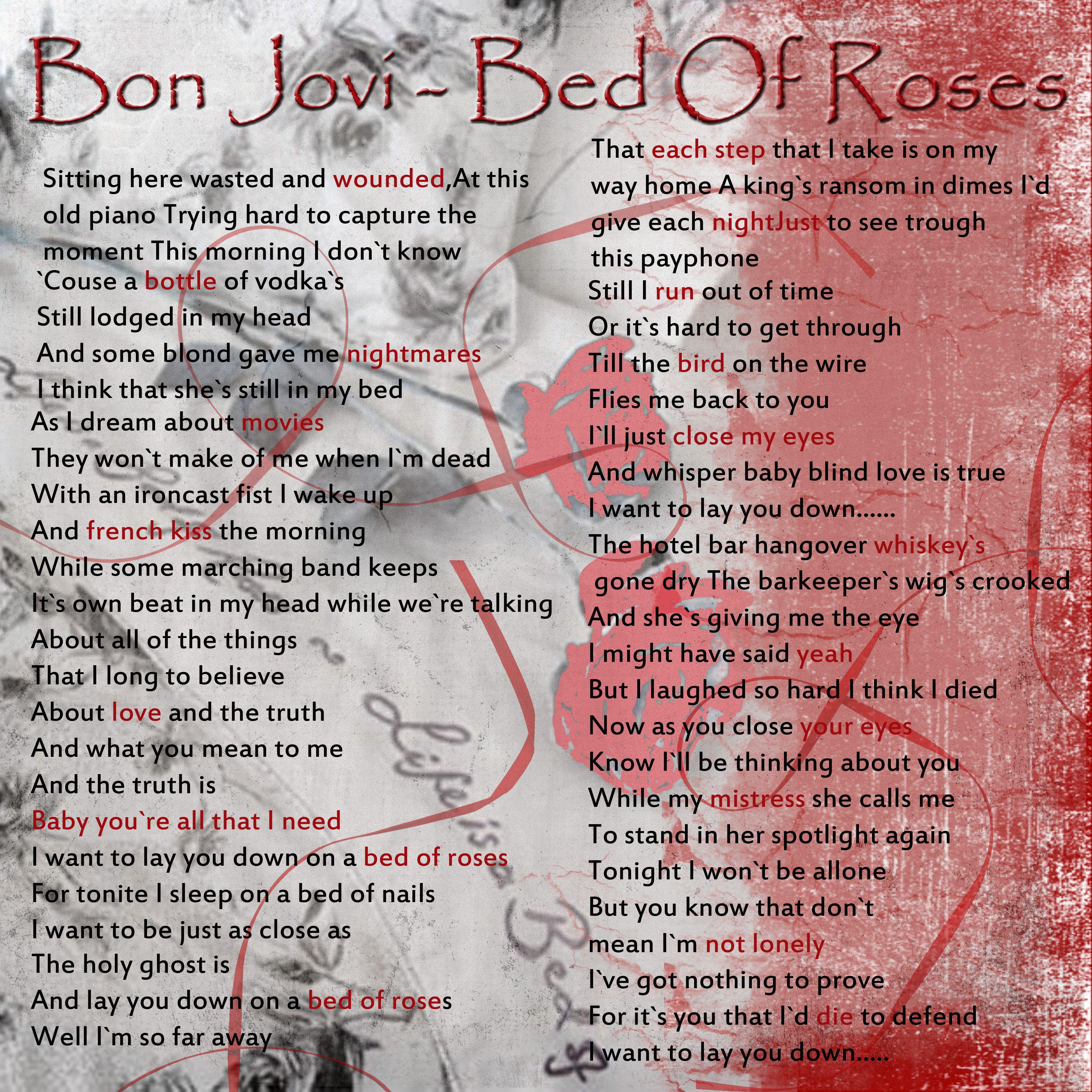 ... Five Little Monkeys Lyrics Printout (delightful Bed Lyrics #5) ...