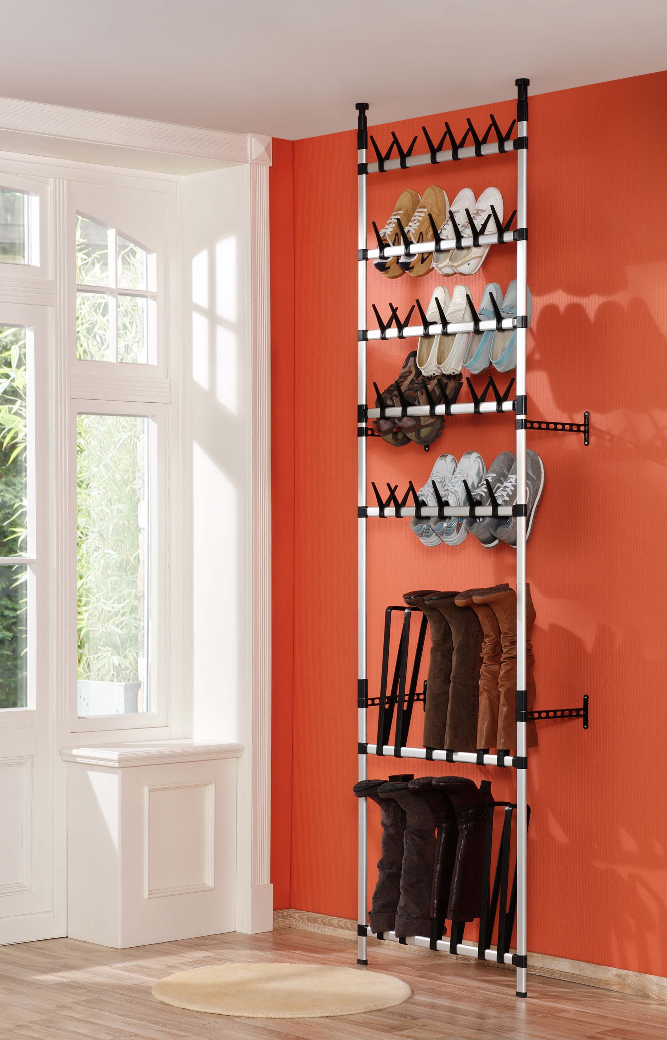 Closet Storage Solutions Shoe And Boot Storage In One But Made Out Of Wood Similar Idea