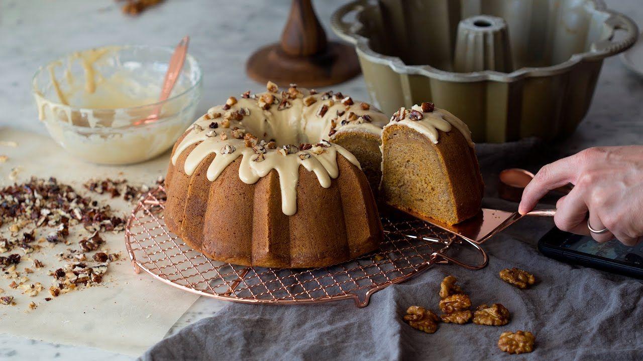 How to Make a Pumpkin Bundt Cake YouTube Pumpkin bundt
