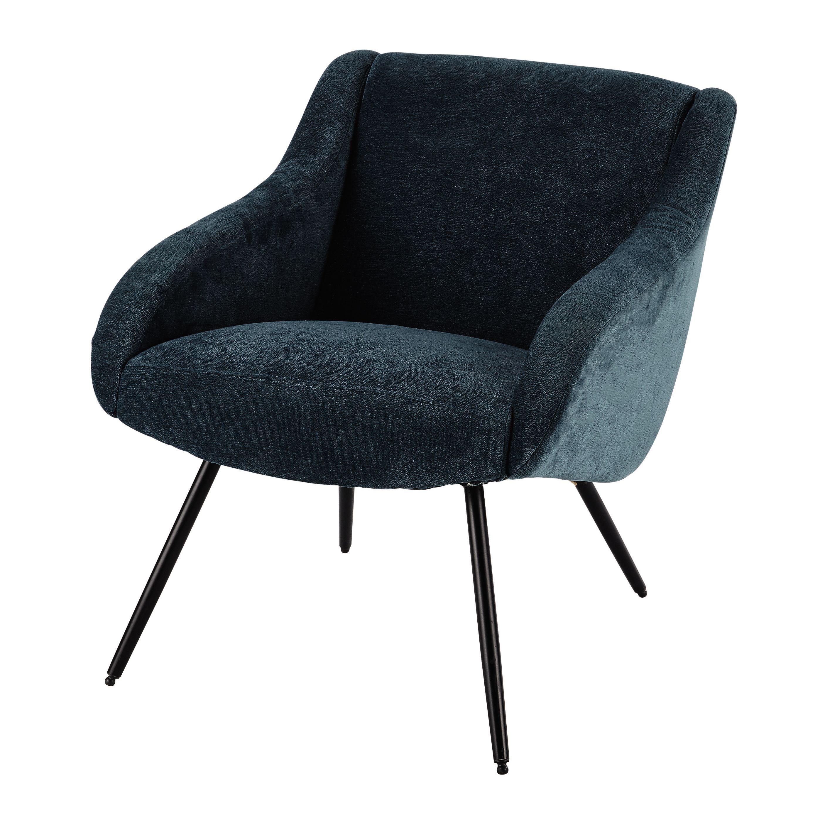 sessel aus velours im vintage stil blau und metall sessel i chairs pinterest. Black Bedroom Furniture Sets. Home Design Ideas