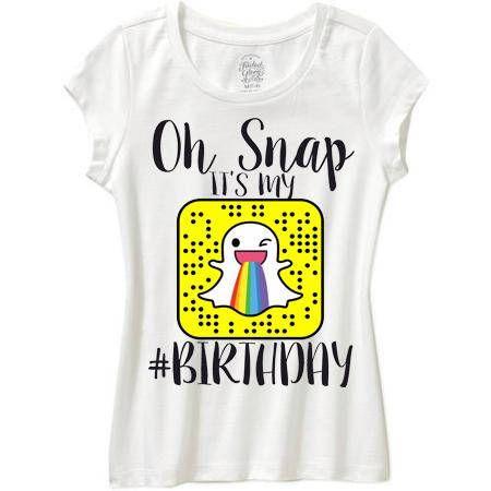 Oh Snap Its My Birthady Shirt Emoji Boy Or Girl
