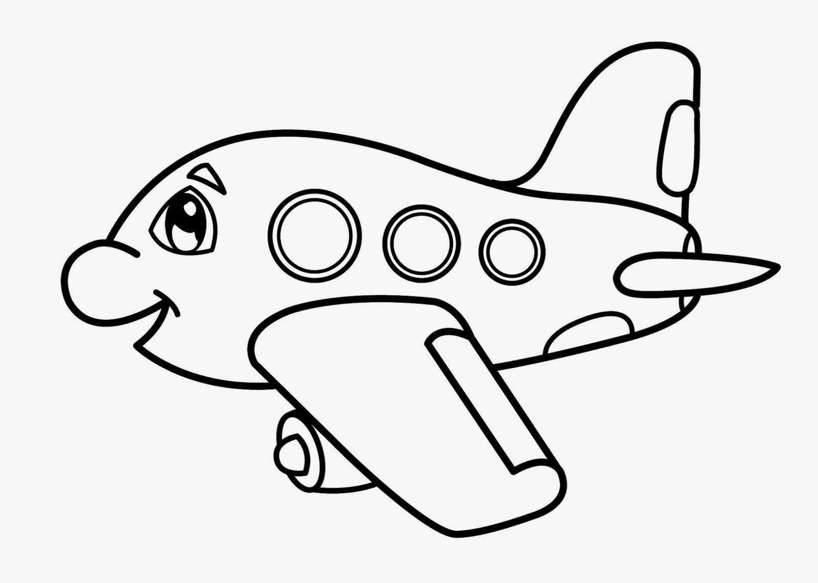 Самолет картинка раскраска для малышей