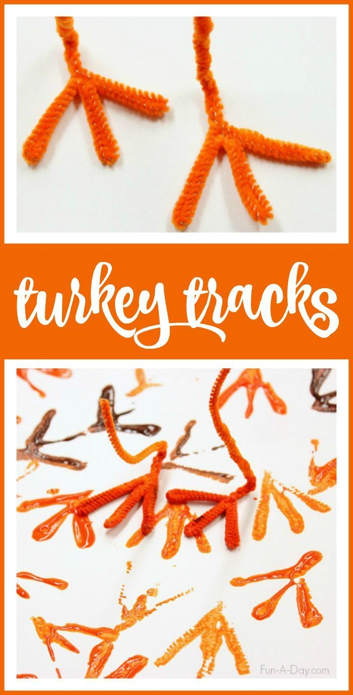 how to easily make turkey tracks turkey art with kids pinterest