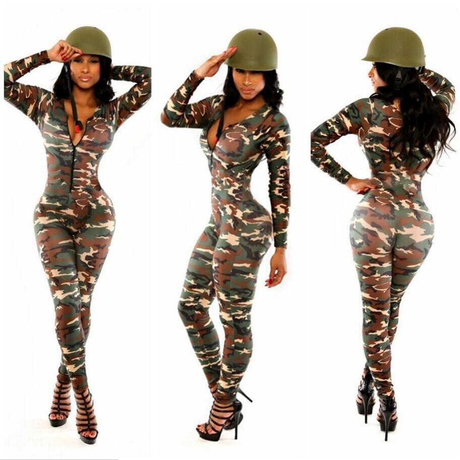 d2fe675538da Camouflage Jumpsuit Overalls Sexy Bodysuit Rompers Womens Jumpsuit Bod –  kats closet1