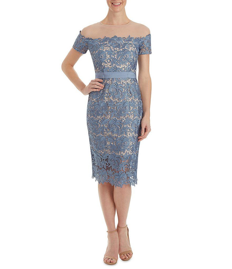 Jax illusion neckline lace sheath dress blue and purple wedding jax illusion neckline lace sheath dress ombrellifo Gallery
