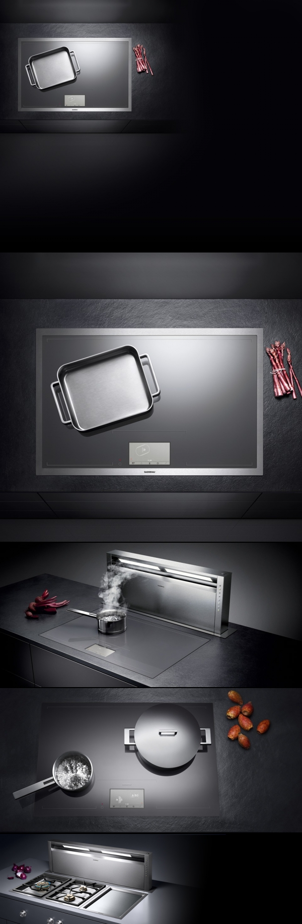 induction cook technology with design by gaggenau germany technology pinterest. Black Bedroom Furniture Sets. Home Design Ideas