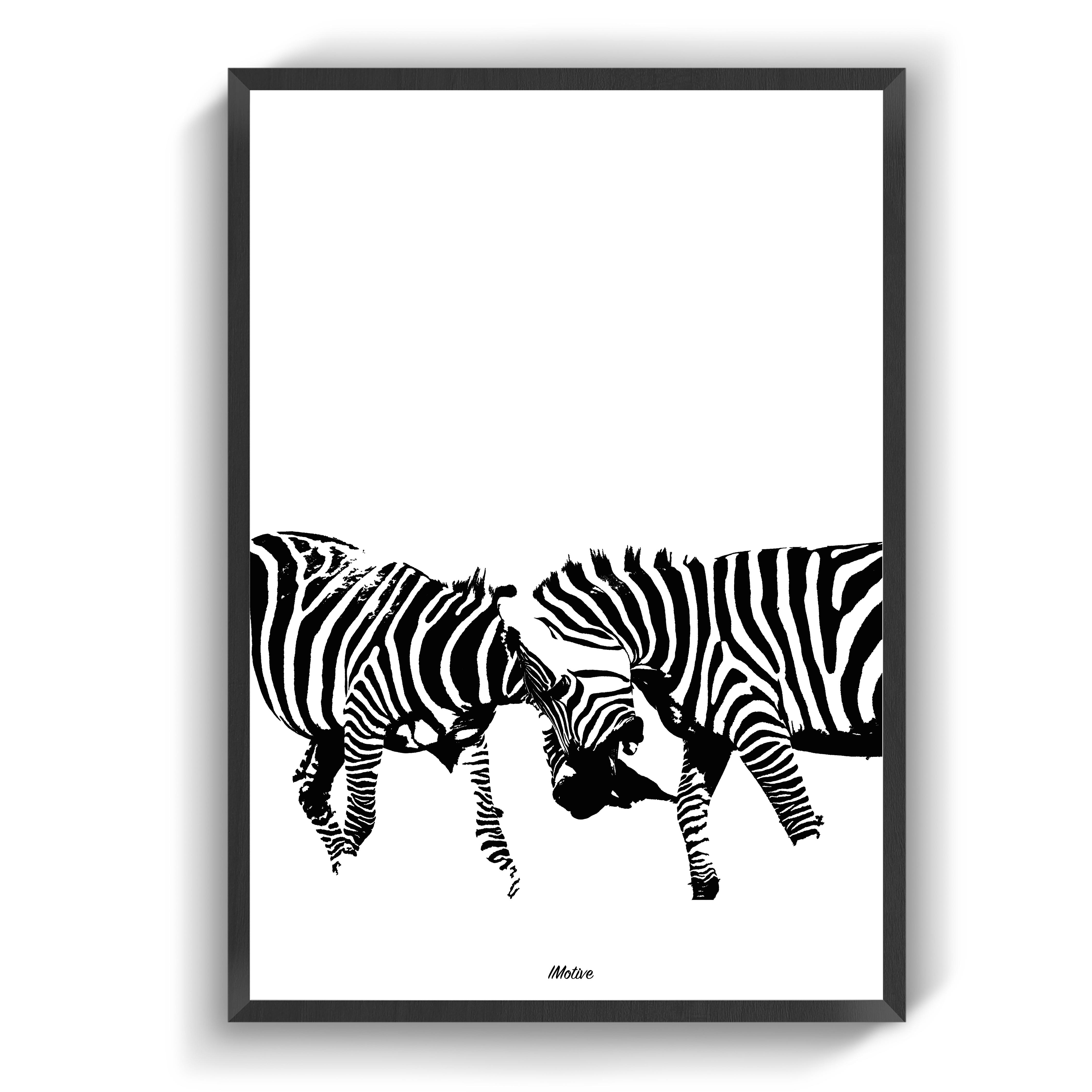 Zebraerne Zebra Plakater Farver