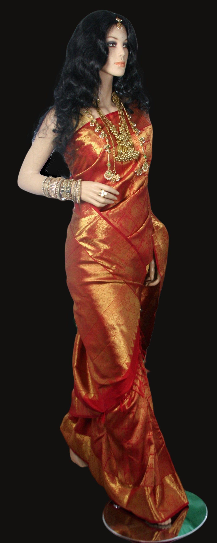 Traditional Red Bridal Kanjeevaram Saree Bridal sarees